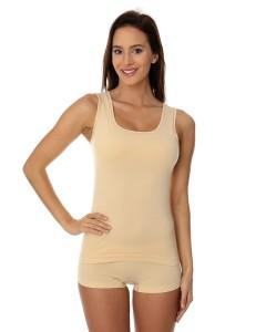 689298bba5c18a Bezrękawnik damski Brubeck Comfort Cotton TA00510 beżowy
