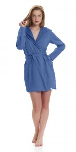 Szlafrok Damski Dn-nightwear SWB.9456 Royal Blue